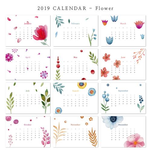 2019 아트 캘린더 달력 CALENDAR 15 Flower