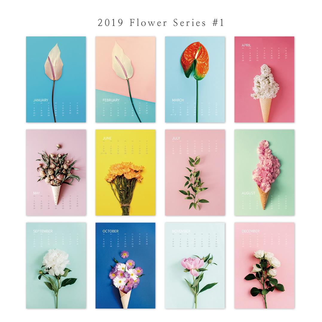 2019 아트 캘린더 달력 CALENDAR 37 Flower Series 1