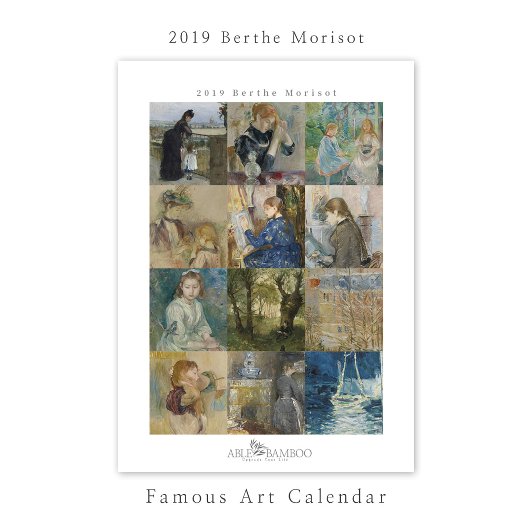 2019 명화 캘린더 달력 Berthe Morisot 베르트 모리조 Type B