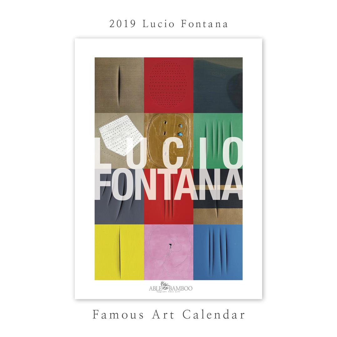 2019 명화 캘린더 달력 Lucio Fontana 루치오 폰타나 Type B