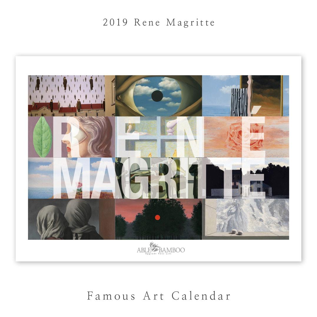 2019 명화 캘린더 달력 Rene Magritte 르네 마그리트 Type A