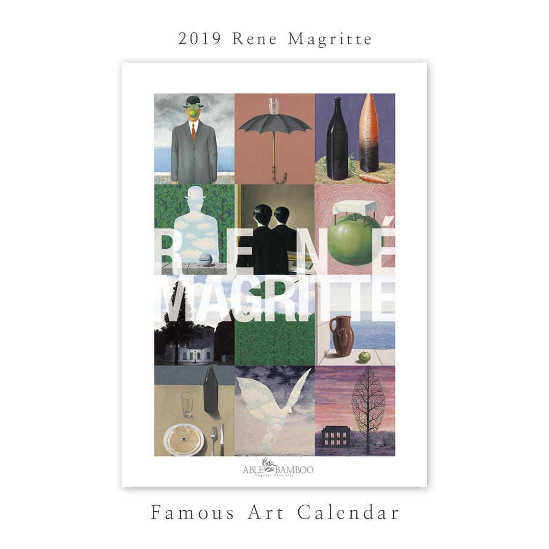2019 명화 캘린더 달력 Rene Magritte 르네 마그리트 Type B