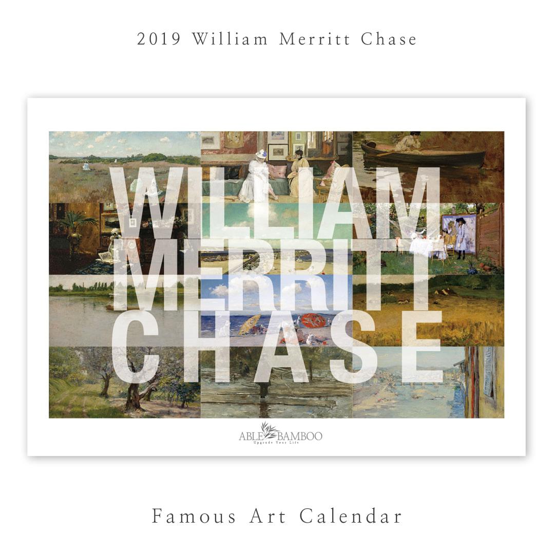 2019 명화 캘린더 달력 William Merritt Chase 윌리엄 체이스