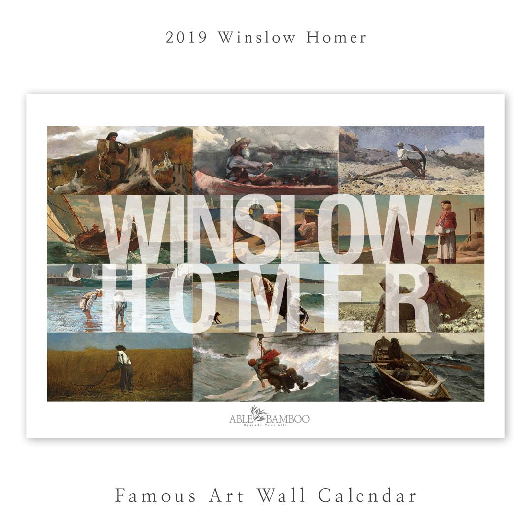 2021 명화 A3  A4 벽걸이캘린더 Winslow Homer 윈슬로 호머