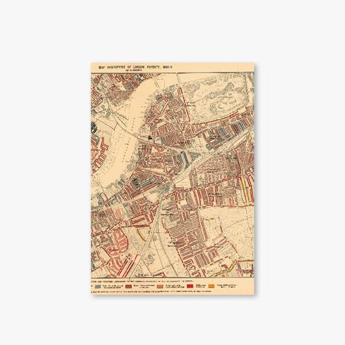 아트커버 디자인 노트 Old Map Series Type A London Map-1