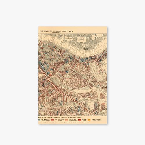 아트커버 디자인 노트 Old Map Series Type B London Map-2