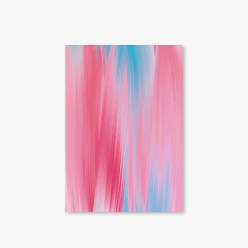 아트커버 디자인 노트 Marbling Series Type D Blue Pink