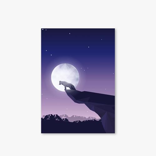 아트커버 디자인 노트 Moonlight Series Type B Wolf