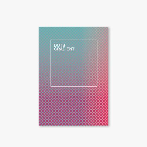 아트커버 디자인 노트 Dots Gradient Series Type A Turquoise Pink