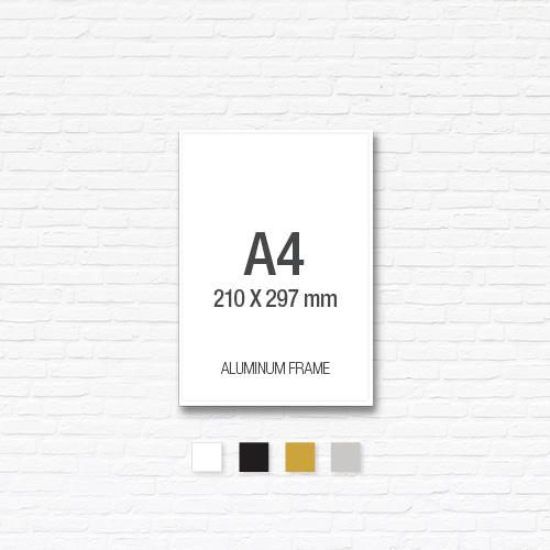 [알루미늄프레임] 알루미늄 액자 A4