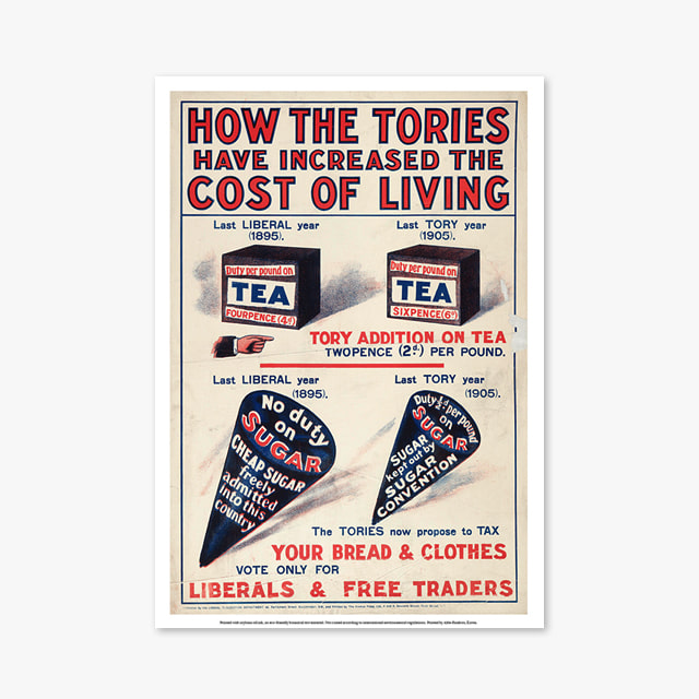 907_Vintage Art Posters_How_the_Tories_Have_Increased_the_Cost_of_Living (빈티지 아트 포스터)